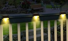 Solar Fence Lights: Four Lights