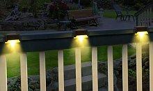 Solar Fence Lights: Two Lights