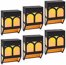 Solar Fence Lights Wall Mount Post