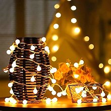 Solar Festoon Lights, DINOWIN 7M 50 LED Berry