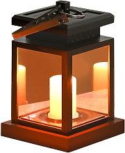 Solar garden decoration light, candle type