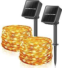 Solar Garden Lights, 39FT/12M 100LEDs 2 Pack Solar