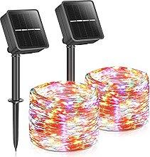 Solar Garden Lights, 40FT 100LEDs 2 Pack Solar