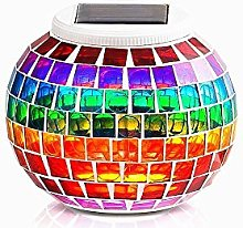 Solar Glass Mosaic Light Color Changing Night