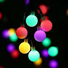 Solar Globe Fairy Lights 30 LED Ball 21 Ft String