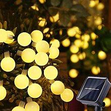 Solar Globe Fairy Lights, 35.6Ft 60 LED Waterproof