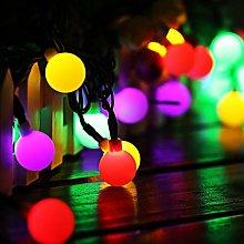 Solar Globe Fairy Lights, 60 LED Ball 35.6 Ft