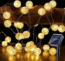 Solar Globe String Lights, BrizLabs 22.73ft 50 LED
