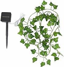 Solar Green Leaves Vine String Light Solar-Powered