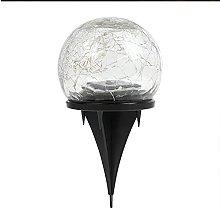 Solar Ground Crack Light, Rainproof Glass Bottle