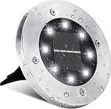 Solar Ground Garden Lights, BrizLabs 8 LEDs