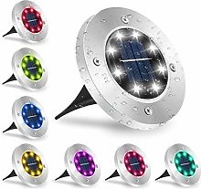 Solar Ground Light, ANSODY 8 LED Multicolor