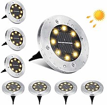 Solar Ground Lights Outdoor, BrizLabs 8 LEDs
