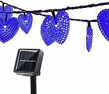 Solar Heart String Lights,KINGCOO Waterproof 20ft