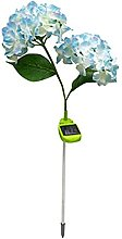 Solar Hydrangea Lamp Artificial Flower Bright
