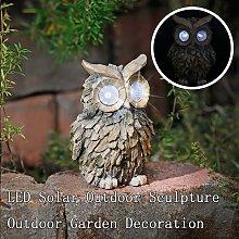 Solar Lamp Owl Ornament Animal Bird Outdoor LED