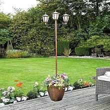 Solar Lamp Post With Planter by Coopers of
