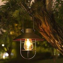 Solar lantern for outdoor - Vintage - Metal - LED