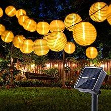 Solar Lantern String Lights Outdoor, BrizLabs