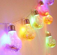 Solar Led Light Bulb String Transparent Gold Bulb