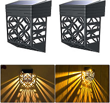 Solar light for the garden in the open air, 2-part