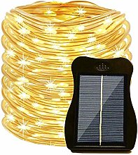Solar Light Rope Outdoor Waterproof, 39ft 100 LED