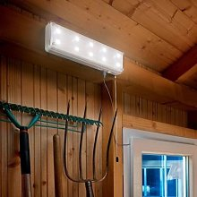 Solar light system with motion detector