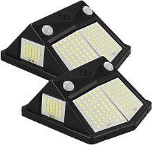Solar Lights Outdoor 2 Pcs Wireless 160 LED Solar