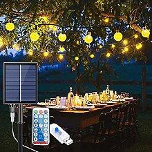 Solar Lights Outdoor Garden, 12M/39ft 100 LEDs