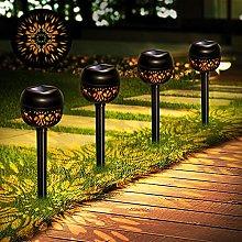 Solar Lights Outdoor Garden, 4 Pack Garden Lights