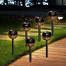 Solar Lights Outdoor Garden, 6 Pack Garden Lights