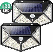 Solar Lights Outdoor, Upgraded 100 LED Solar