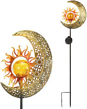 Solar Moon And Sun Ground Inserted Lamp Patio