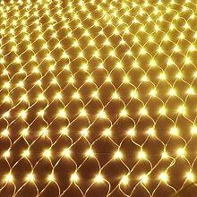 Solar Net String Lights, 100Led Backyard Patio Net