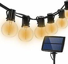 Solar Outdoor Globe String Festoon Lights, DINOWIN