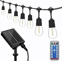 Solar Outdoor String Lights, 12M/39Ft LED Festoon