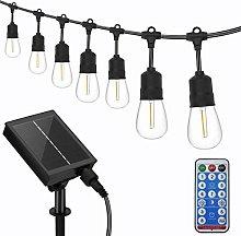 Solar Outdoor String Lights, 17M/55Ft LED Festoon