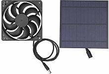 Solar Panel Cooling Fan, Portable Ventilation