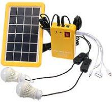 Solar Panel Lighting Kit, Dc Home Solar System