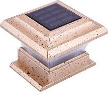 Solar Post Cap Lights Fence Lamp Adapt for