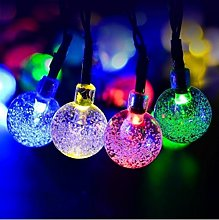 Solar Powered Crystal Ball Globe String Lights