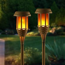 Solar Powered Flickering Flameless Flame Lamp