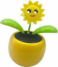 Solar Powered Flip Flap Dancing Flower Toy for Car