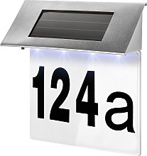 Solar powered house number light - silver