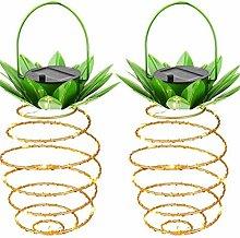 Solar Powered Iron Pineapple Led String Fairy Lamp