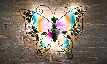 Solar Powered LED Wall Butterfly Light: Two