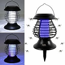 Solar Powered Mosquito Insect Killer UV Lamp