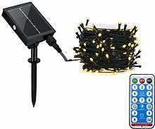 Solar Powered Remote Control Outdoor String Lights