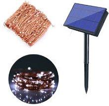 Solar Powered String Lights 300 LEDs Solar Copper