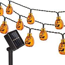 Solar Pumpkin Light 16.4Ft, Outdoor Waterproof